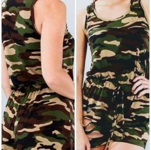 Pants - Camouflage Romper